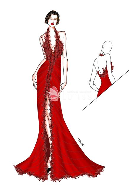 dress sketches gallery wedding dresses evening prom gowns lunss couture