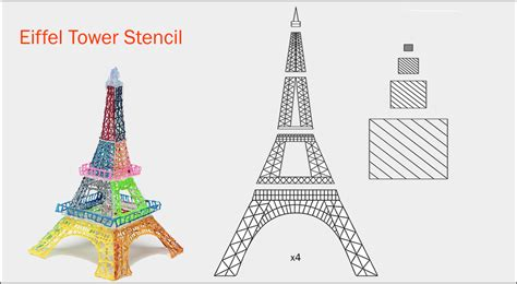 eiffel tower template eiffel tower 3doodler stencil related keywords eiffel