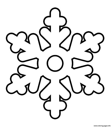 Free Snowflake Printable Coloring Pages
