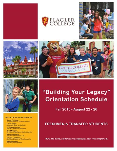 fall orientation 2016 salem college orientation schedule fall 2015 by flagler college issuu