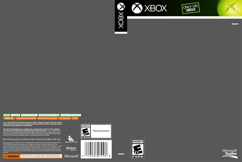 xbox one cover template xbox cover template by etschannel on deviantart