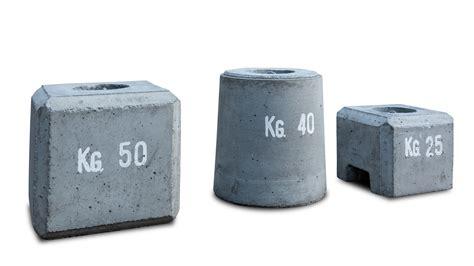 zavorre per gazebo manufatti in cemento contrappesi in cemento zulberti elio