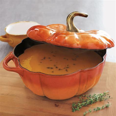 sur la table staub for thanksgiving staub pumpkin cocotte 3 189 qt