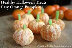 healthy halloween treats easy orange pumpkins one
