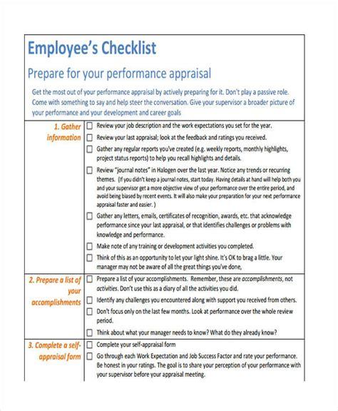 36 Printable Checklist Templates Free Premium Templates Employee Performance Checklist Template