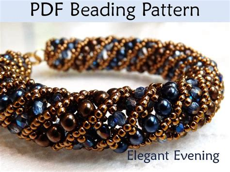 free easy seed bead patterns beading tutorial pattern bracelet necklace tubular