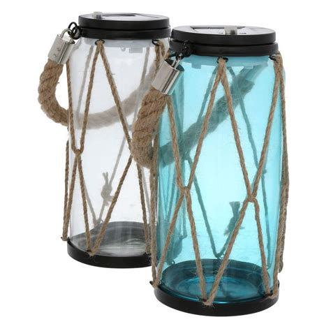 moonrays 9 in solar powered outdoor led rope lanterns 2