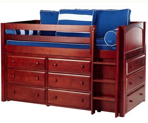 Loft Beds With Dresser by Maxtrix Box Low Loft Bed W Dressers Bed Frames Matrix