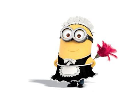 french maid minion  duster cartoon