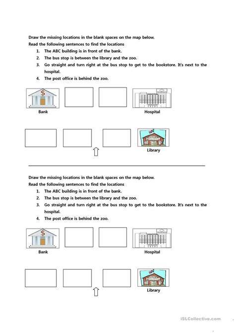 free printable giving directions worksheets giving directions worksheet free esl printable