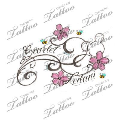 flower tattoo with child s name hidden mickey tattoo pictures to pin on pinterest