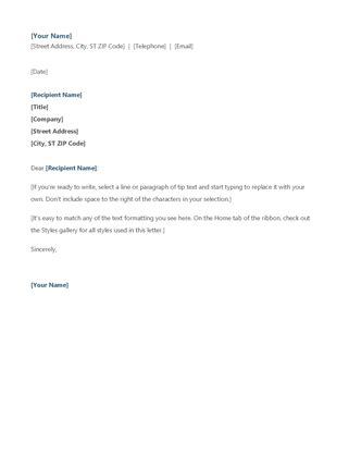 Cold Call Inquiry Letter by Modern Letterhead