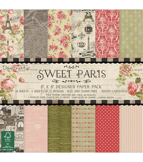 Dove Craft Paper - dovecraft sweet paper pack 8 x8 jo