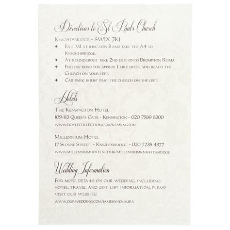 wedding invitations additional information exles card invitation ideas wonderful information cards for