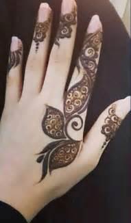 simple arabic latest finger mehndi designs 2017 new styles