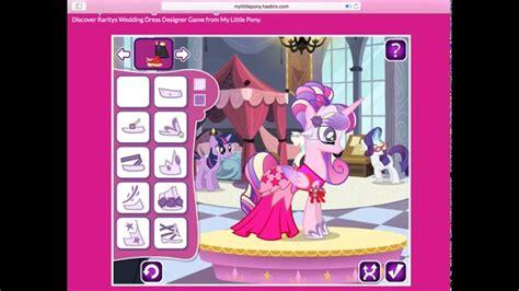 design wedding dress game online free my little pony rarity s wedding dress designer game youtube