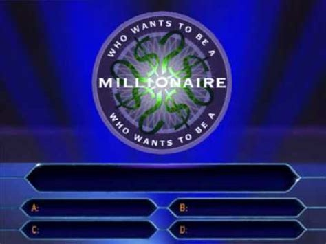 question 1 100 who wants to be a millionaire youtube