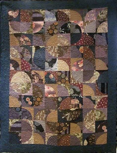 Japanese Patchwork Quilts - patchwork quilt blue purple and brown japanese