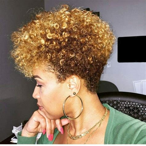 how to do a tapered haircut on natural hair tapered cut with color natural hair pinterest