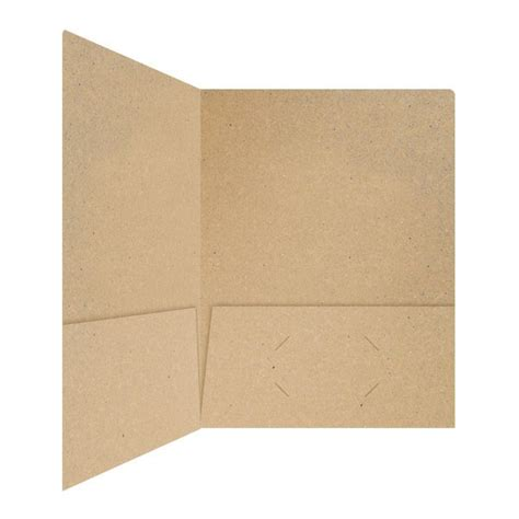 How To Make Paper Folders With Pockets - folder design kraft recycled paper pocket folders by