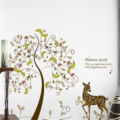 removable wall stickers for rooms 174 colorful tree wall stickers for rooms home