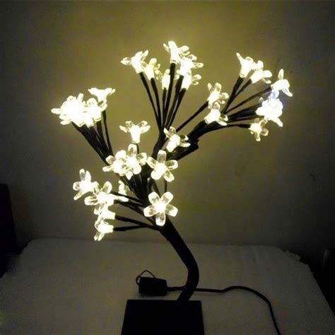 Led Crystal Cherry Blossom Tree Christmas Desk Table Ls Blossom Center Lights