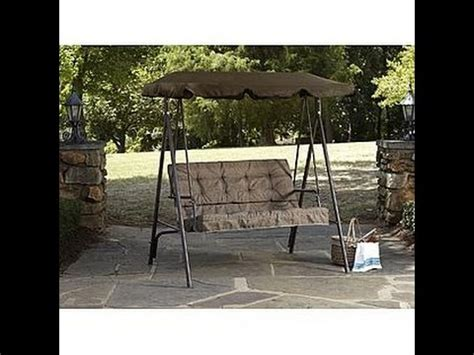 kmart patio swing kmart swing patio swing cushion replacement youtube