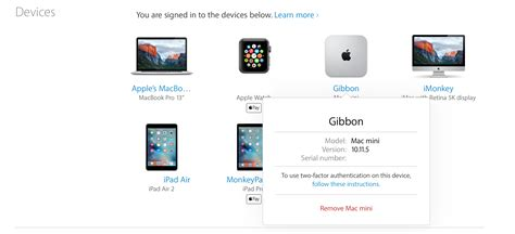 apple device how to see every mac ipad and iphone associated with