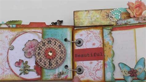 How To Make Photo Album With Paper - scrapbooking quot adorable friends quot paper bag mini album