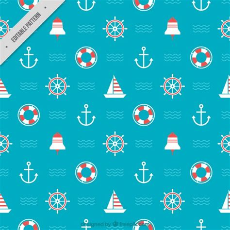 nautical pattern vector coloured nautical pattern vector free download