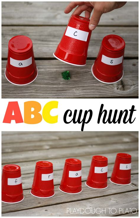 Abc Cup abc cup hunt playdough to plato