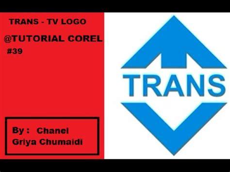 membuat logo trans tv cara membuat logo trans tv by corel draw tutorial 39