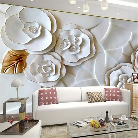 modern wallpaper pinterest family room modern magnolia 3d floral wall decor for