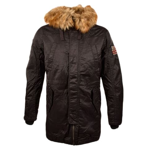 True Religion Parka by True Religion True Religion Black Parka With Fur