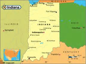 Indiana State Map by Indiana Counties Road Map Usa