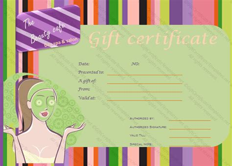 free printable hair salon gift certificate template printable spa gift certificate gift certificate templates