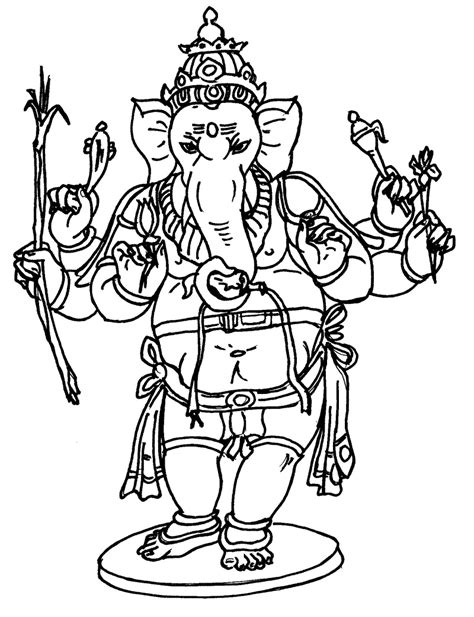 printable ganesh images pencil of lord ganesh coloring pages