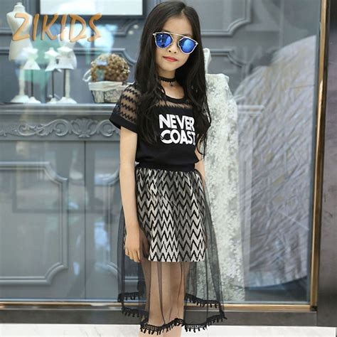 Letter Mesh Casual Top 25093 clothing sets t shirts mesh skirts casual letter lace summer dress brands