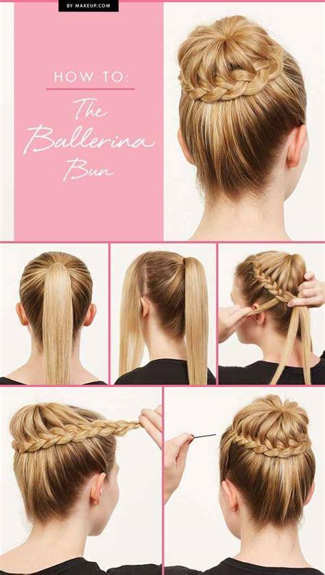 make a bun wth braiding hair make a braided ballerina bun alldaychic