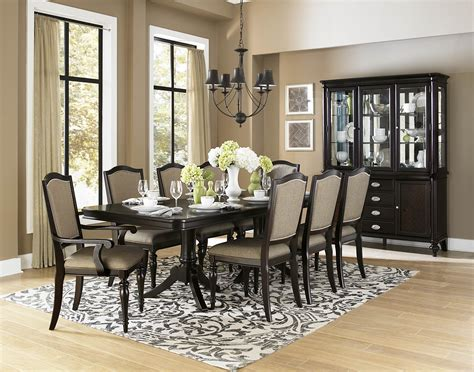 dining room collection homelegance marston 10 piece double pedestal dining room set in dark espresso beyond stores