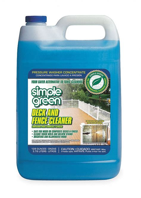 simple green deck  fence cleaner  gal size