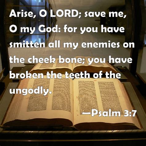 how being broken saved me books psalm 3 7 arise o lord save me o my god for you