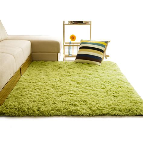 Soft Shaggy Carpet For Living Room European Home Warm Room Mats