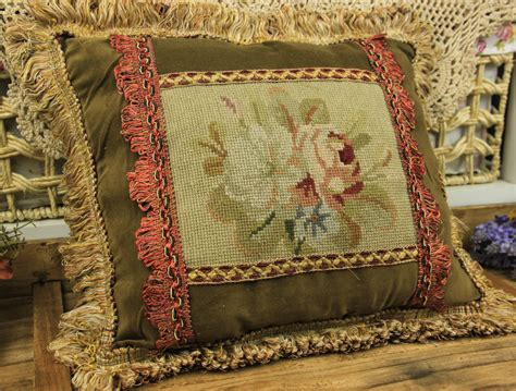 Unique Sofa Pillows 15 Quot Vintage Design Decorative Sofa Chair Handmade Needlepoint Pillow Cushion