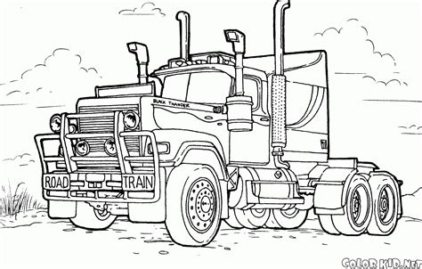 coloring page for truck coloring page large truck