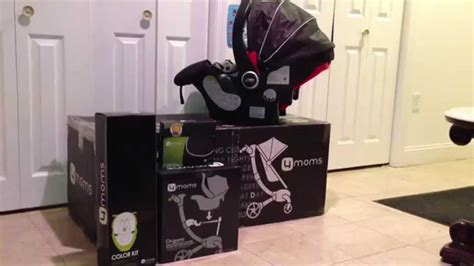 the 4moms origami stroller and graco snugride 35 hathaway