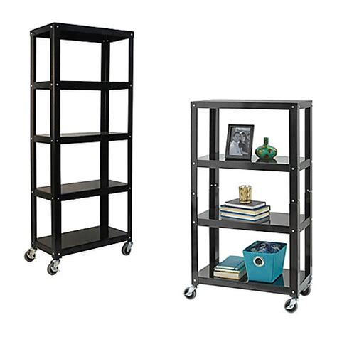 bed bath and beyond shelving studio 3b metal shelving in black bed bath beyond