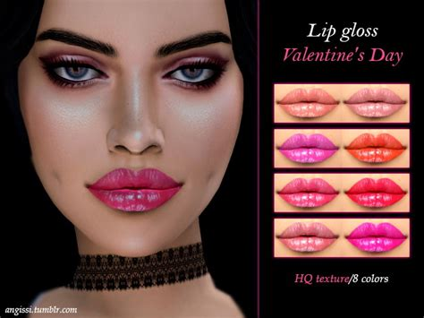 Dining Room Floors lip gloss valentine s day at angissi 187 sims 4 updates