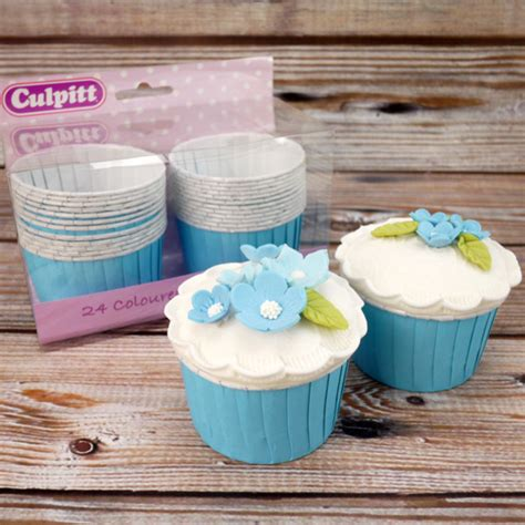 Cake Cases 70mm Base 30mm Bunga pack of 24 blue baking cups for cupcakes