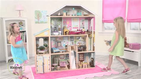 large doll houses for sale children s majestic mansion dollhouse toy review youtube